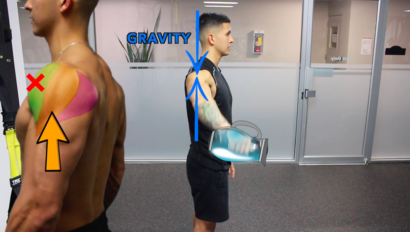 shoulder exercise with internal rotation