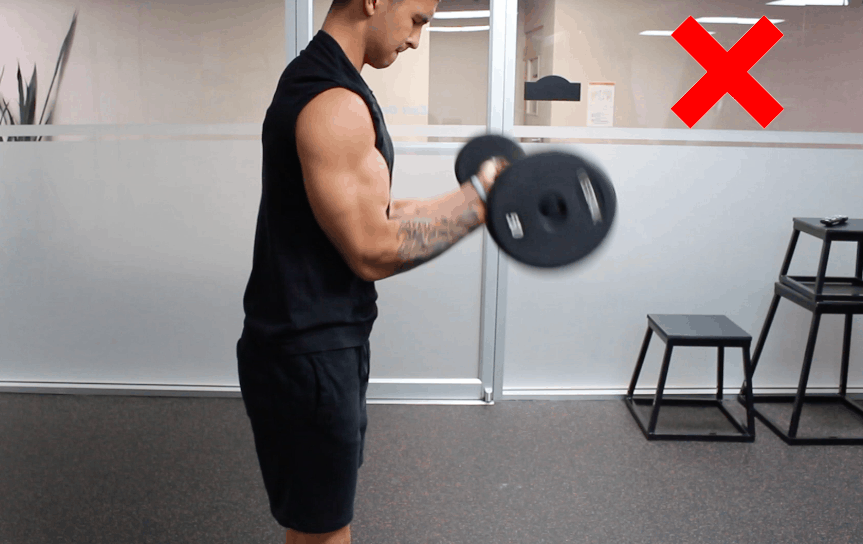 bicep curls error