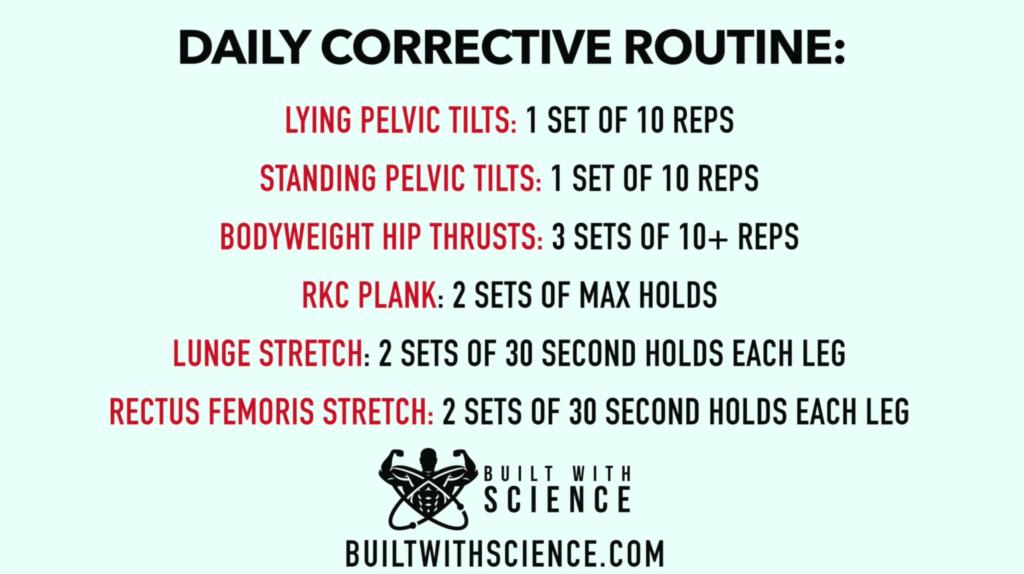 Anterior pelvic tilt corrective routine-min