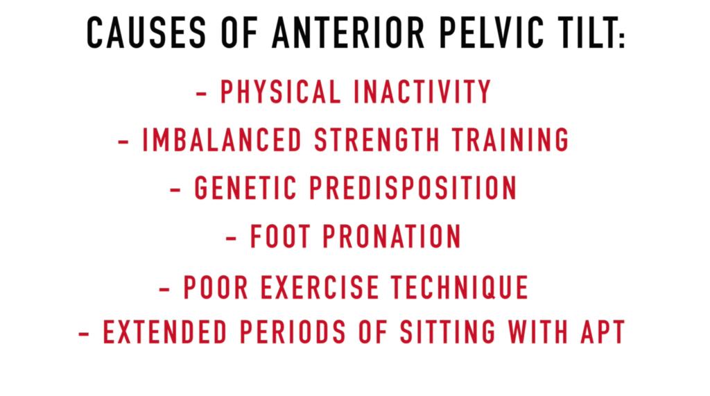 Causes of anterior pelvic tilt-min
