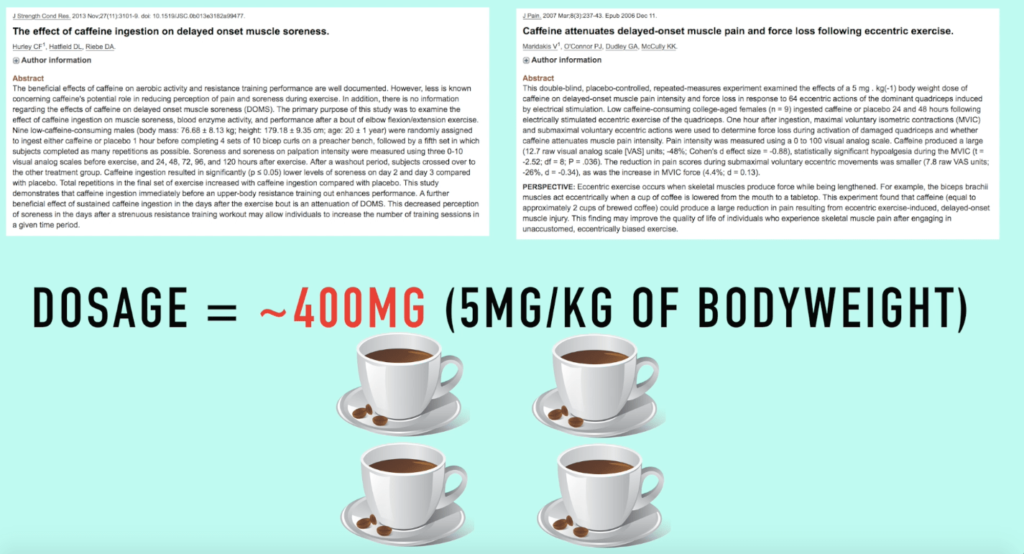 caffeine for delayed onset muscles soreness