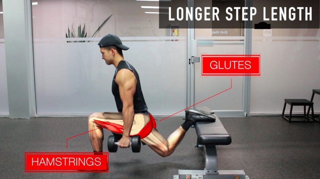 bulgarian split squat longer step