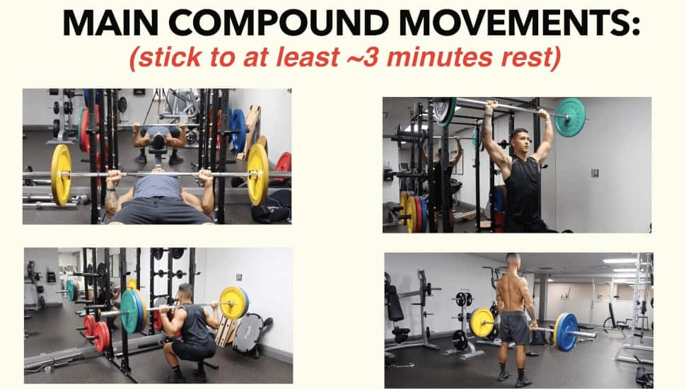 rest time for compound movements