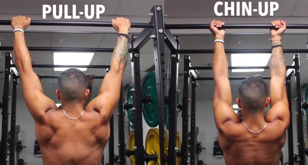pull ups vs chin ups