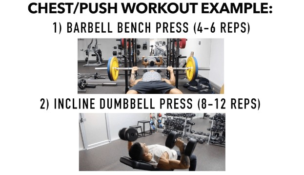 example barbell and dumbbell workout