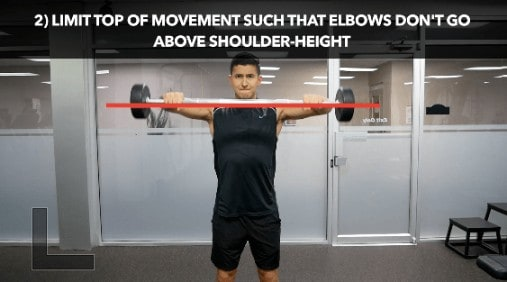upright row range of motion