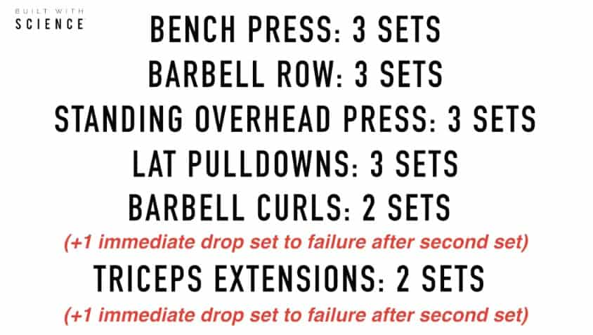 drop set workout