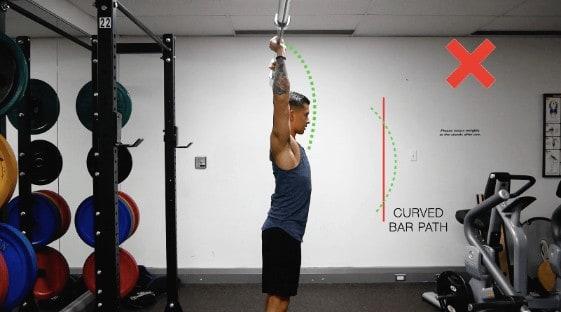 shoulder press bad form