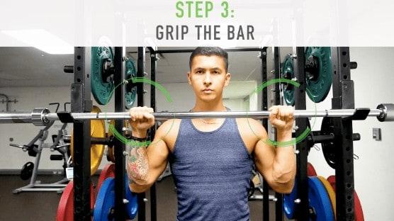 proper overhead press grip step 3