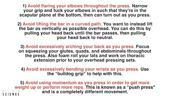 overhead press summary