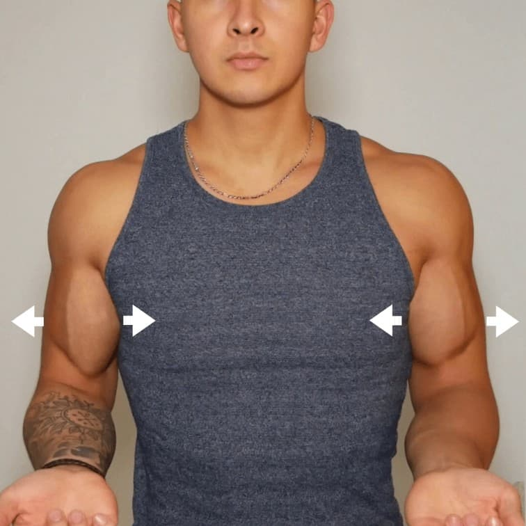 how to get wider arms