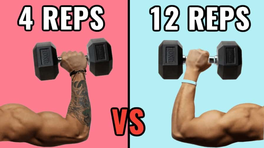 high reps vs low reps thumbnail