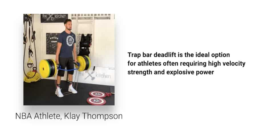 klay thompson trap bar deadlift