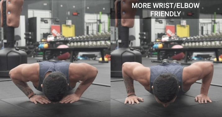 wide vs close grip push ups