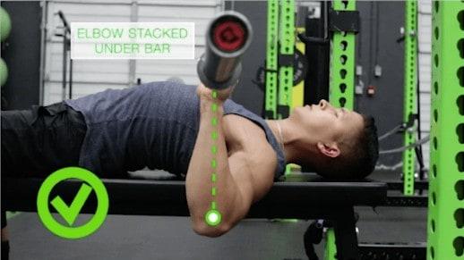 bench press elbow tuck