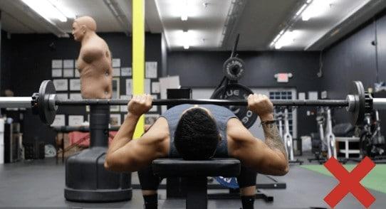 bench press grip too narrow