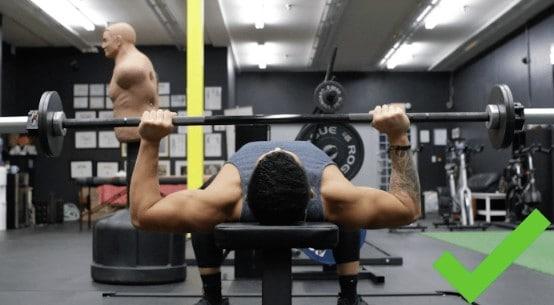 bench press proper form
