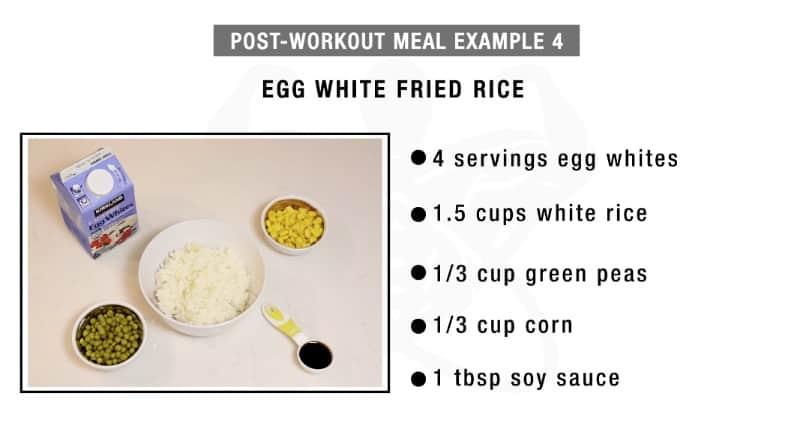 egg white fried rice