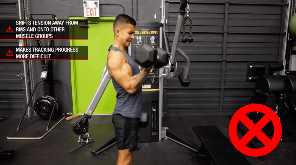 Biceps exercise mistake