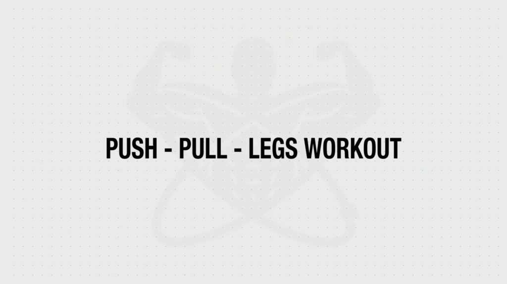 Push pull legs workout routine