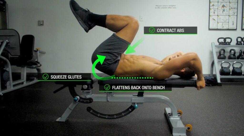 Target lower abs proper form