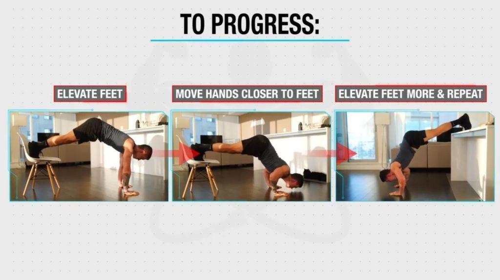 How to progress pike pushups