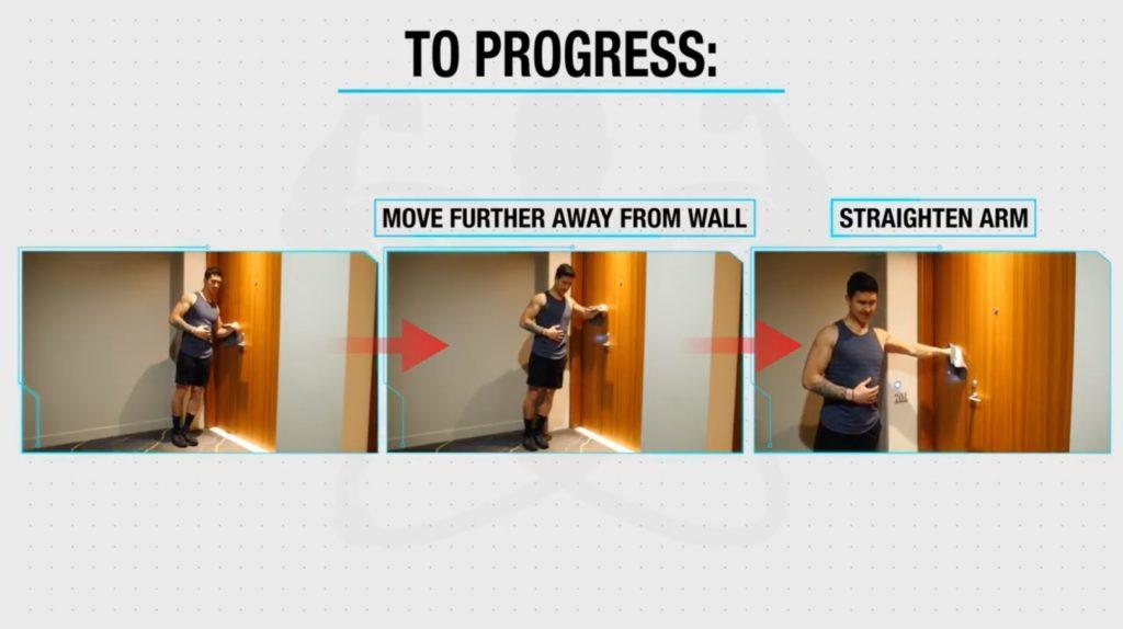 Progress bodyweight lateral raises