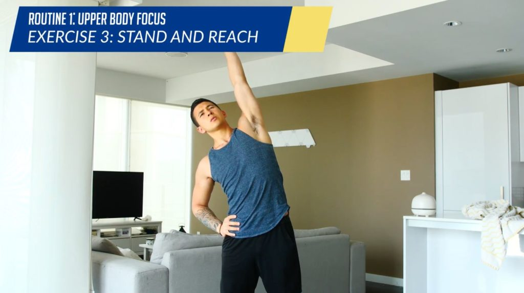 Posture correction routine exercise 3 stand and reach