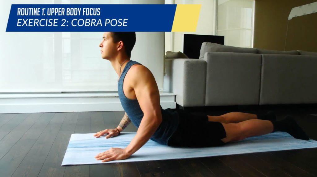Posture workout routine exercise 2 cobra pose