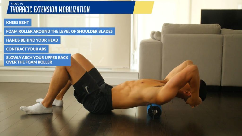 How to fix your posture thoracic extension mobilization