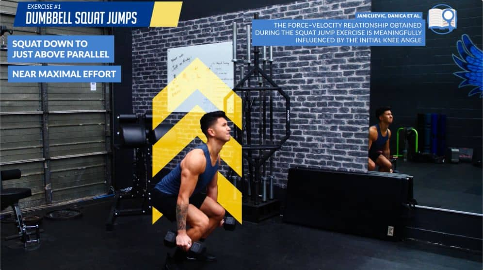 Dumbbell squat jumps best lower body workout