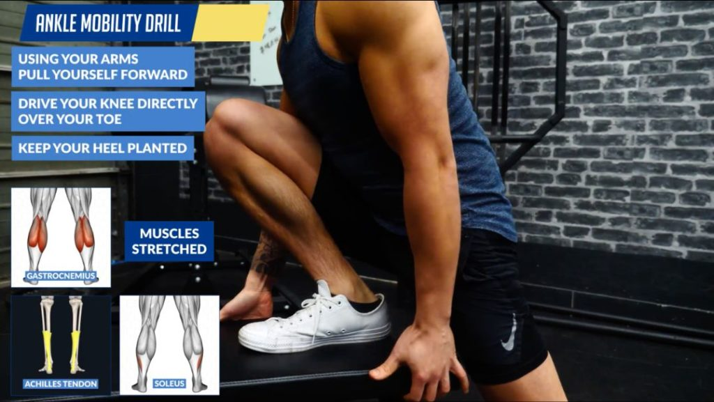 Ankle mobility drill