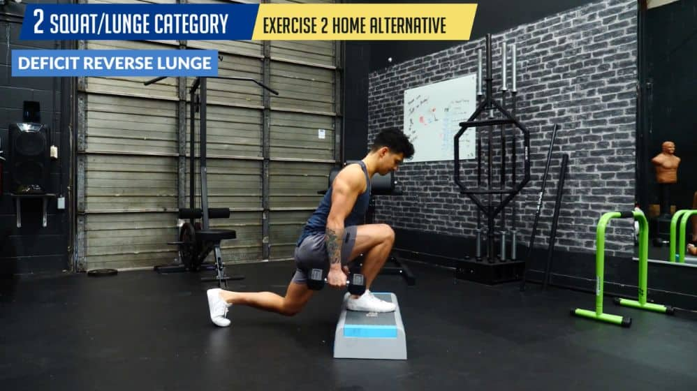 Best glutes exercises deficit reverse lunge