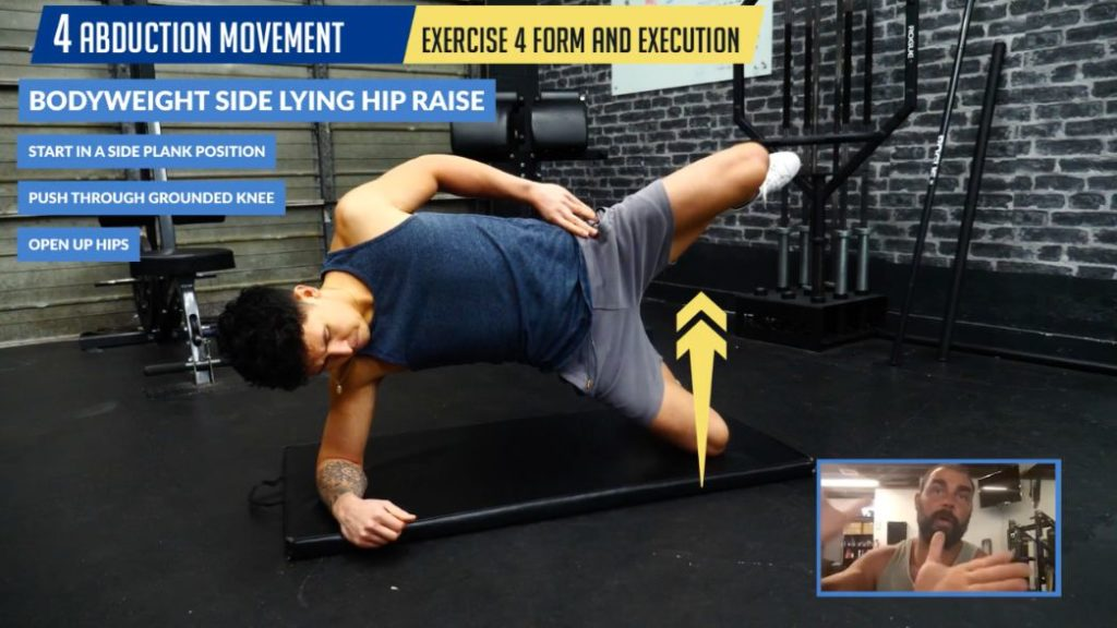 Bodyweight side lying hip raises