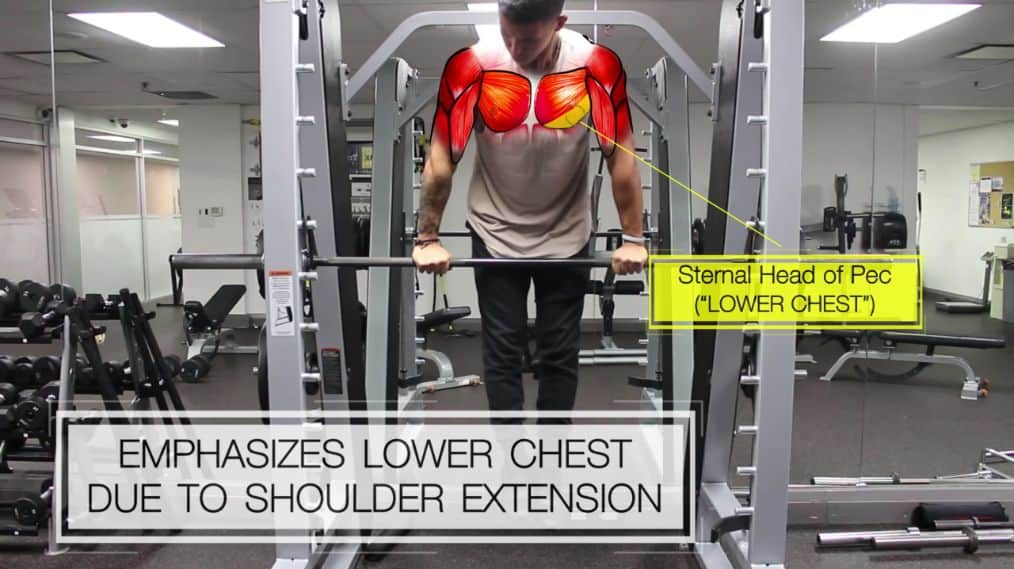 Dips to target lower chest