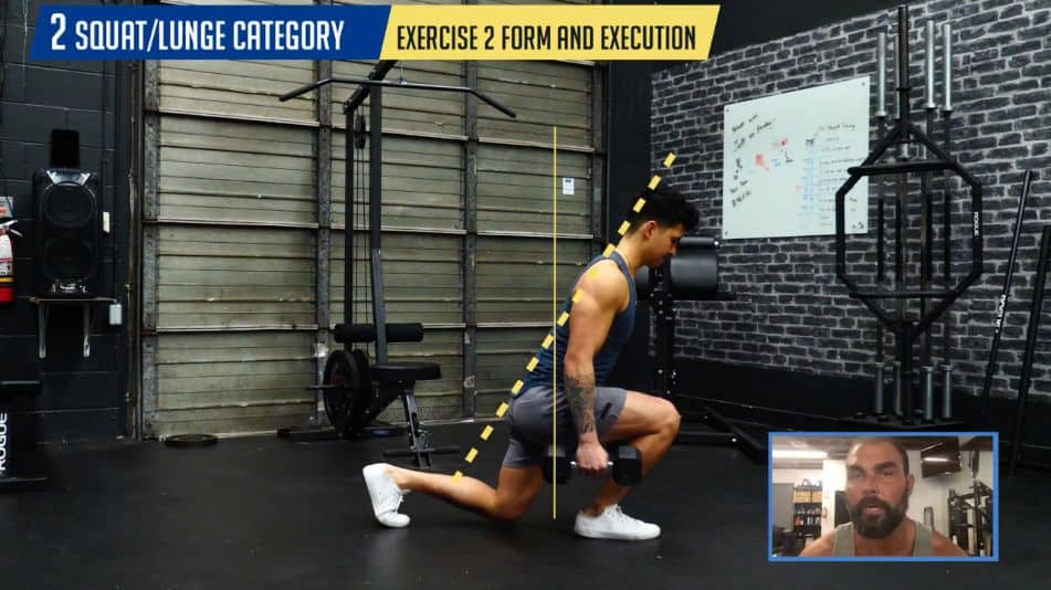 Form and execution for the lunge for maximal glutes activation