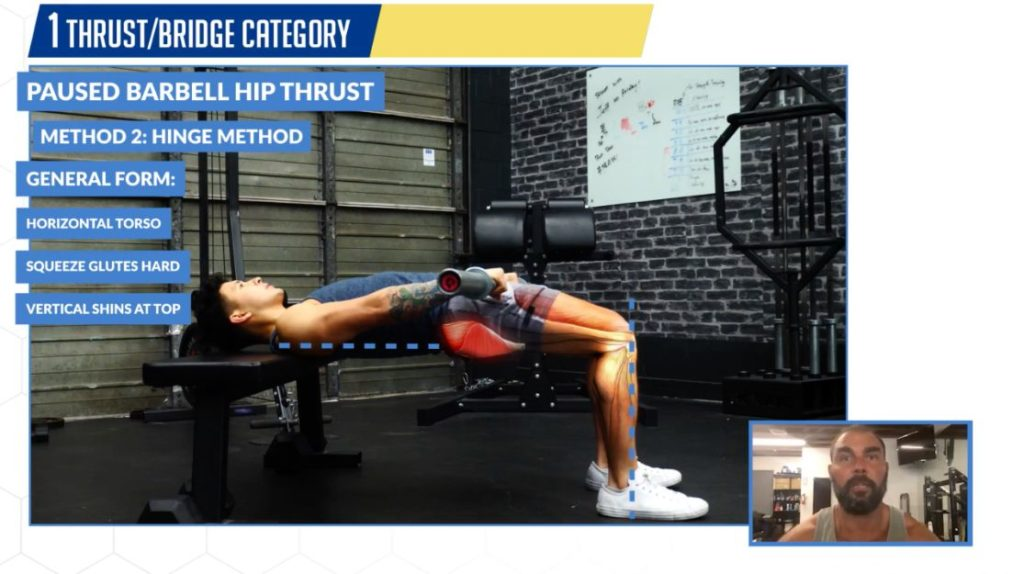 How to perform the hip thrusts