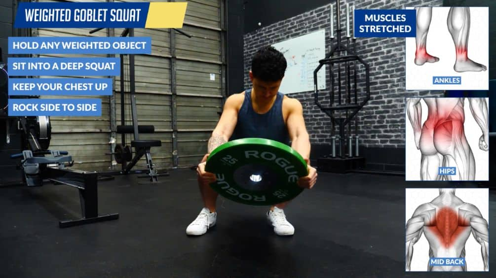Weighted goblet squat