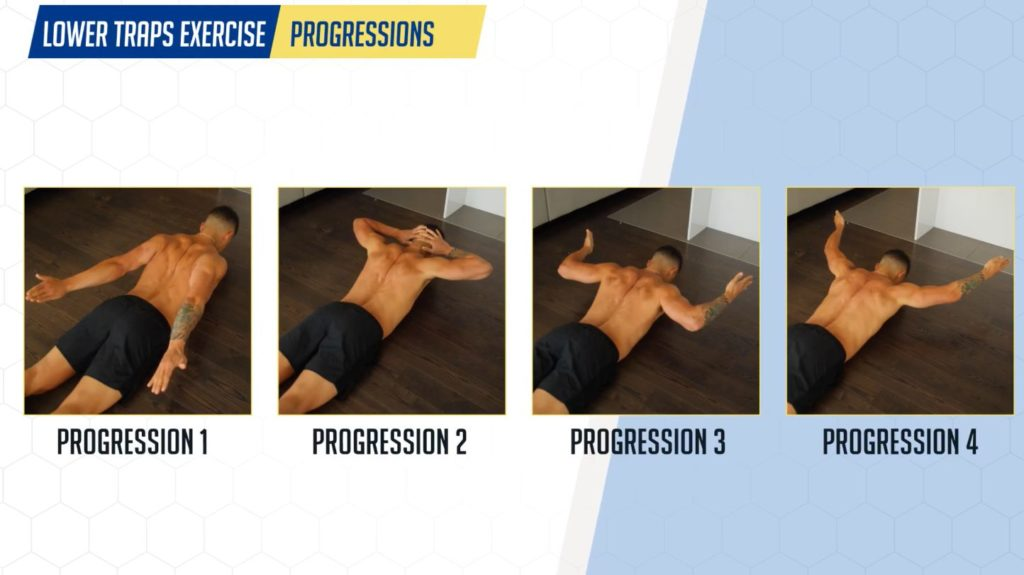 Lower traps exercise progression