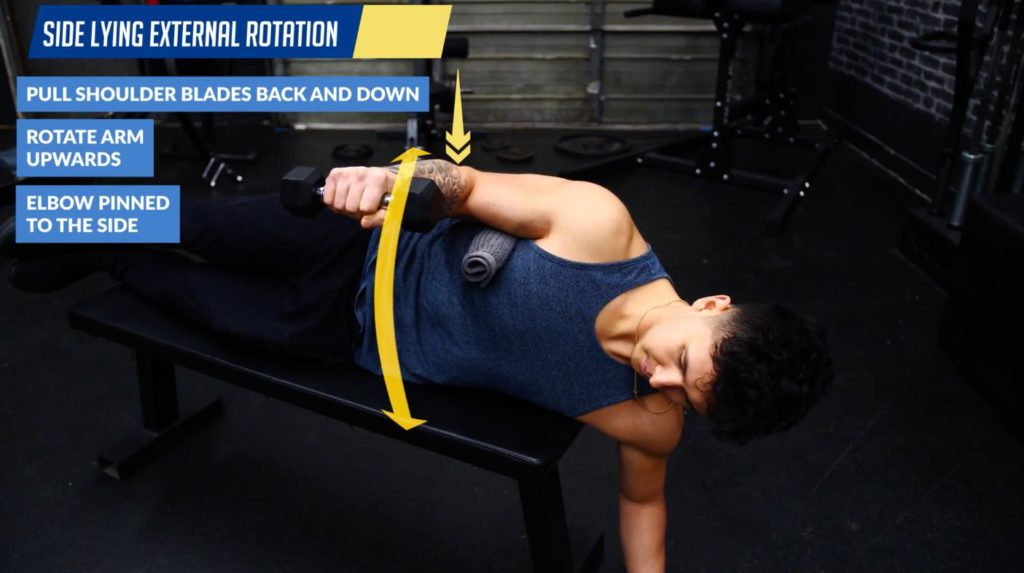 Side lying external rotation