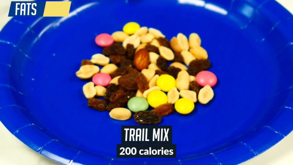 200 calories of trail mix