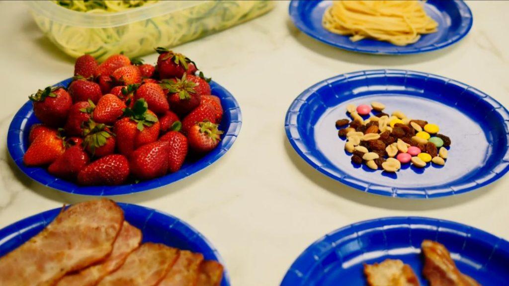 Food portions at 200 calories