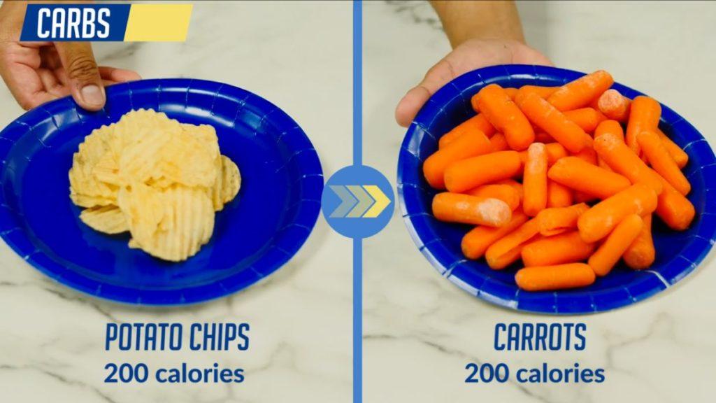 Swap potato chips for carrots