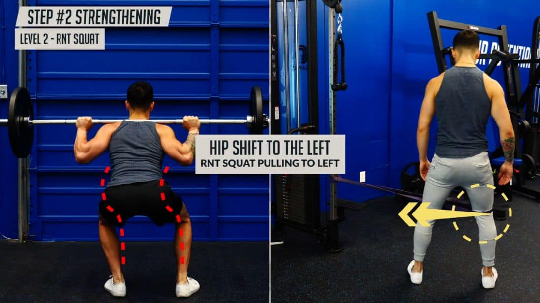 Do the RNT squat to fix hip shifting during squats