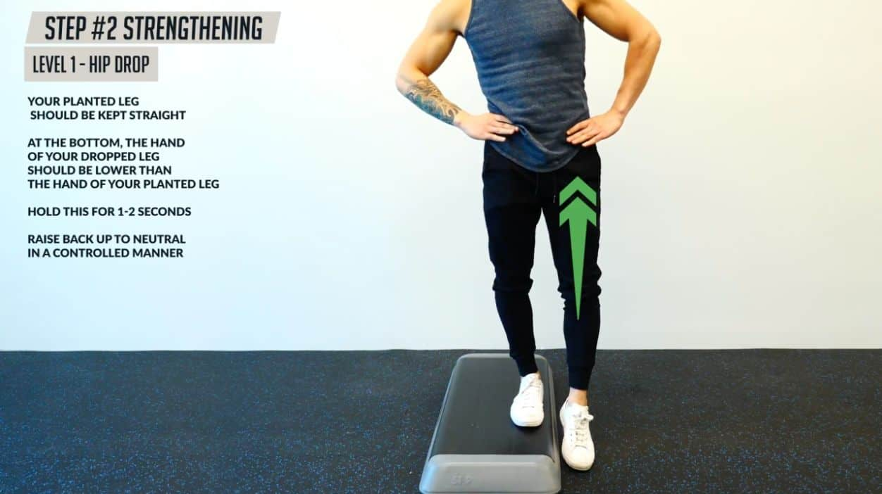 Doing the hip drop can help strengthen the glute medius
