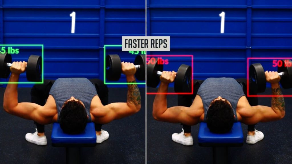 Cheating on reps by performing them faster