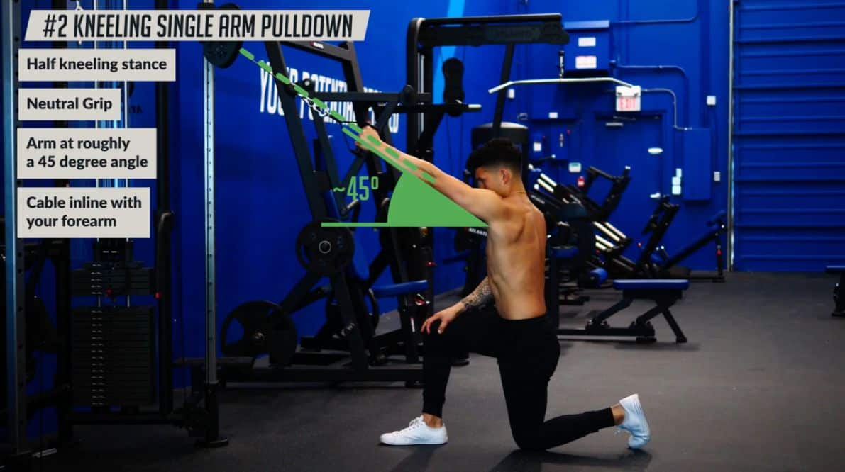 How to do the kneeling single arm pulldown