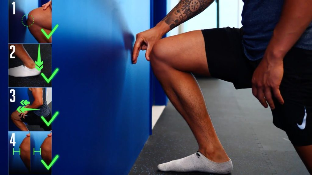 Ankle mobility test to determine suitable knee exercises