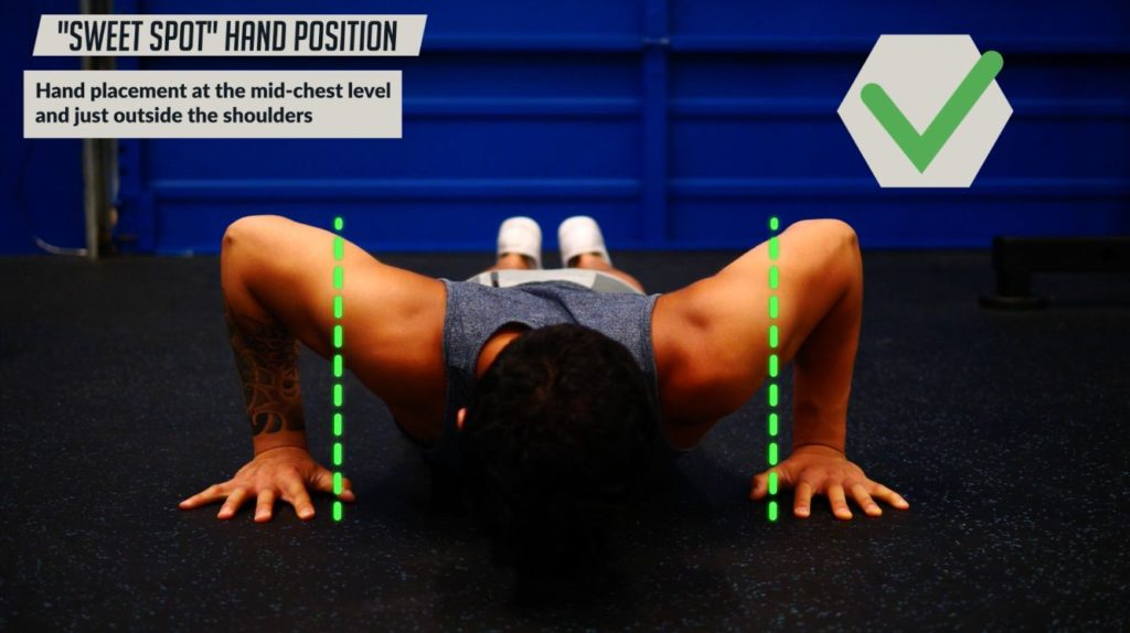 How to find the sweet spot hand position to do a perfect push up