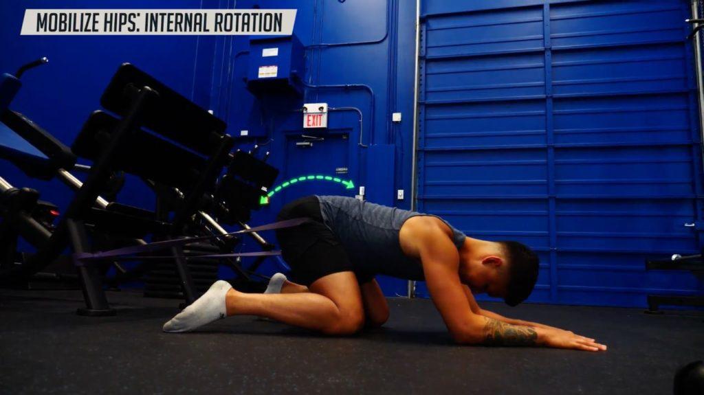 Progression for hip mobilization exercise